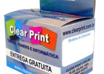 Caixa em Papel Cartão - Cartucho